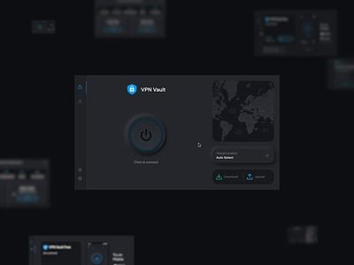 VPN Vault Pulsing Button desktop product design animation sebastiao sommer 44studio appverse vpn internet privacy button animation pulsing button neumorphism neumorphic