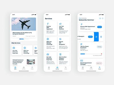 Skip Consumer App design system hello skip skip figma reel animation sebastiao sommer sommer 44studio mobile app design mobile app android ios uxui mobile