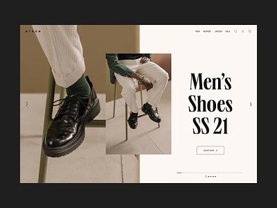 E-commerce Exploration mobile web design desktop webdesign e-comerce clothing brand sebastiao sommer