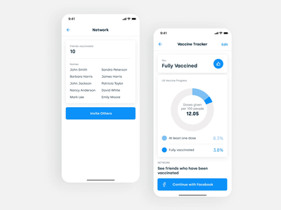 Covid-19 Vaccine Tracker uxui design ux  ui mobile android app sebastiao sommer sommer android ios uxui tracker covid-19 44 studio