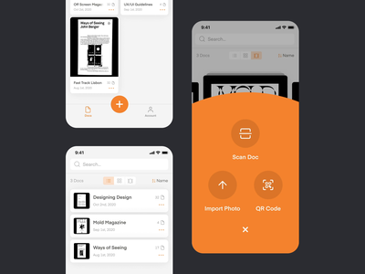 Phone Scanner Redesign uxui appverse 44 studio sebastiao sommer sommer mobile app android ios scan document