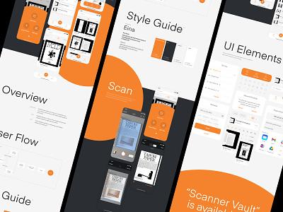 Scanner Vault Case Study scan ui design pdf digital product design scanner vault scanner app design system behance uxui android ios mobile sebastiao sommer 44 studio