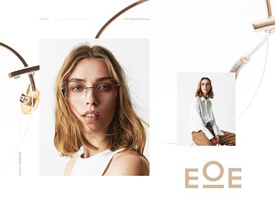 EOE Eyewear Redesign modern clean ux ui dribbble eoe glasses eyewear redesign