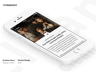 Splay Movie UI Kit ( News Detail Screen ) white netflix movie modern fresh film dribbble clean