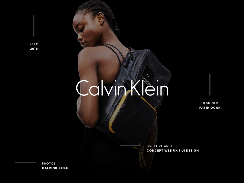 Calvin Klein Redesign Concept Project simple card shop dress clothing fresh modern ux clean ui calvin klein dribbble