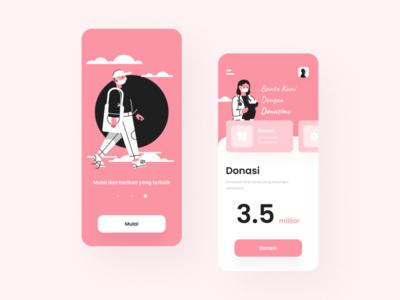 Donasi Covid 19 | Mobile Apps Design