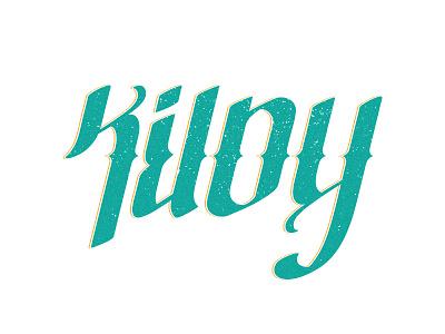 Kiloy X Karl branding typography lettering logo ambigram personal