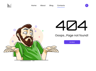 Daily UI Challenge - 404 Page