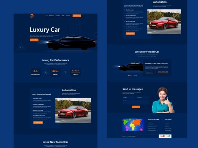 Car Landing Page auto mechanic maintenance mechanic workshops car repair auto care uidesign car landing page car landing page