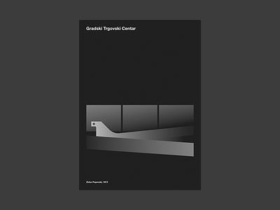 Gradski Trgovski Centar gtc black minimal illustration