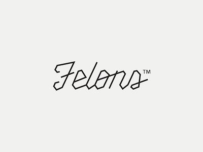 Felons hipster music band cuffs typography minimal white black logo felons