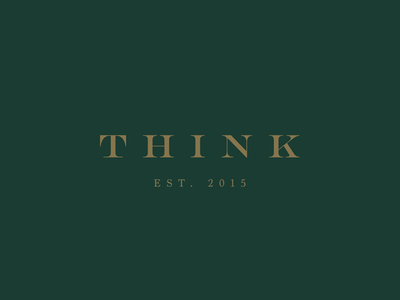 Think — House of Furniture branding architecture interior furniture modern green gold house logo think