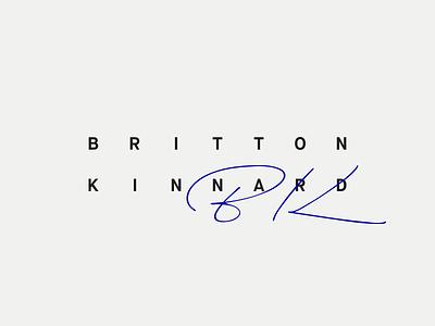 Britton Kinnard signature minimal typography logo k b bk