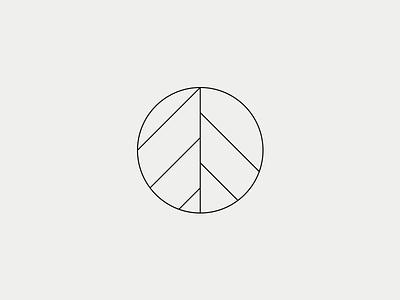 A Symbol elegant minimal black triangle pine geometryc abstract symbol a