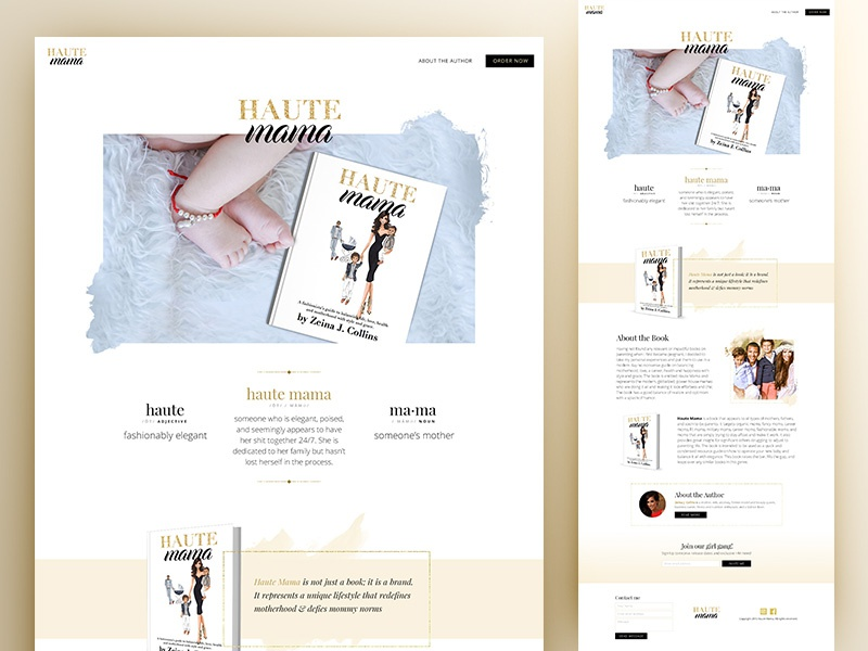 Landing Page Design book landing page web design website