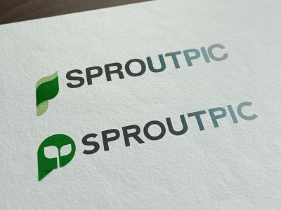Logo Design green leaf logo