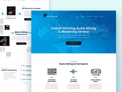 Web Design landing page website gradient web