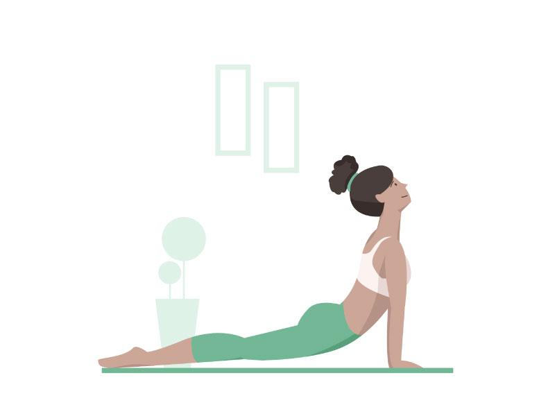 Illustration lifestyle yogi fitness yoga
