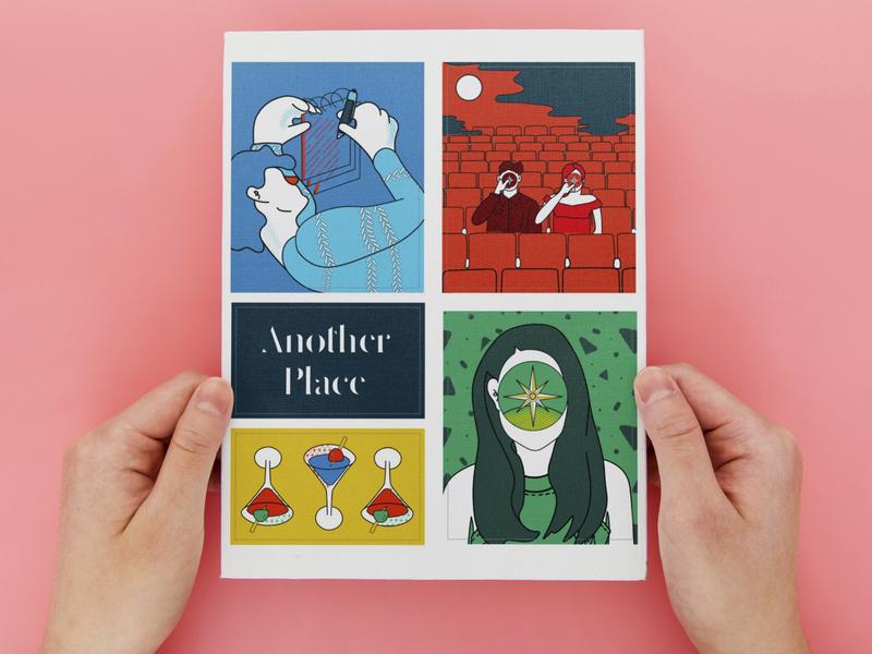 Sticker Sheet | Another Place Film Merchandise merch design film festival stickers adobe illustrator branding design procreate illustrator