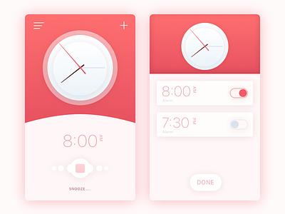 Alarm UI ux ui watch shadow material ios clock circle alarm abstract