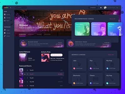 Juke Box Browse Section ux ui ios ticket simple music mobile invite dark event artist popular