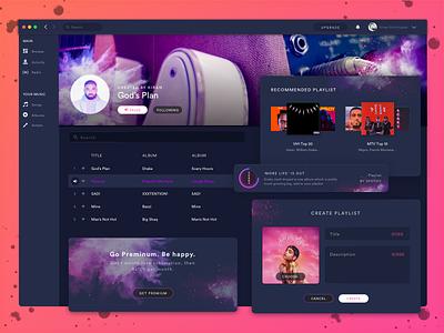 JukeBox Playlist Section ux ui ticket simple popular music mobile ios invite event dark artist