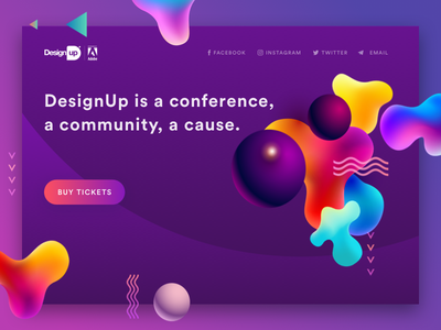 Design Up Web web ux ui template design menu landing invite home 3d purple circle