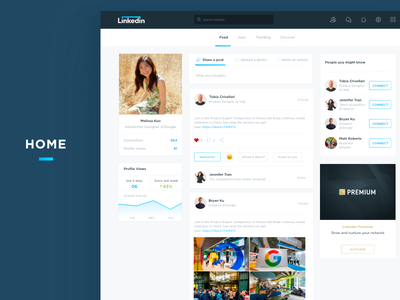 LinkedIn Redesign popular design mobile design web sketch animation popular ios app invite ux ui