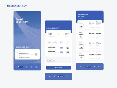 Ngelencer Kuy Apps! ui mobile app design mobile design mobile ui plane blue enjoy flight ticketing