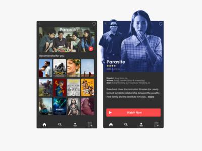 Daily UI Challenge Day 25: Movie App