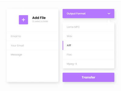 Daily UI Challenge Day 27: Dropdown