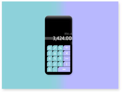Daily UI Challenge Day 4: Calculator