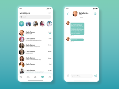 Daily UI Challenge Day 13: Messenger