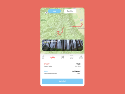 Daily UI Challenge Day 20: Location Tracker