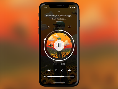 Music App Concept iphone x layout ios sketch mobile apple app interface application music ux ui