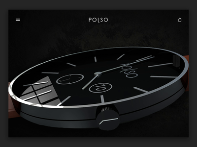 Polso Timepieces - Landing Page product clean minimal ux logo ecommerce branding animation website sketch ui luxury store loading home page landing hamburger watch after effects