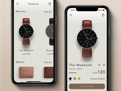 Polso - Mobile Product Page responsive mobile fashion hamburger button add to cart interface minimal product page product wallet watch ecomm clean ux iphone x ecommerce website sketch ui