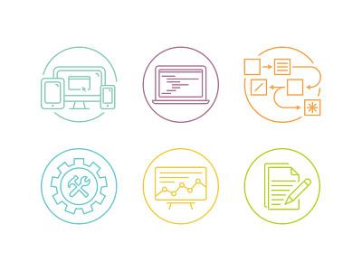 Team Member Icons iconography team illustration