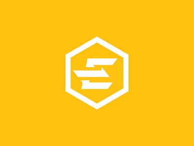 Evolved Strength Concept 01 fitness progress yellow balance strength evolved letter e identity icon