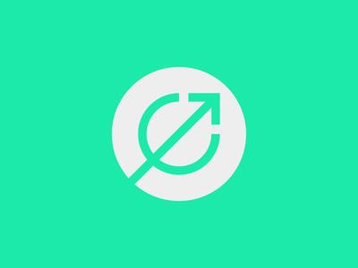 Evolved Strength Concept 03 power fitness green strength progress letter e evolved balance icon identity