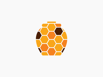 Honey Pot Meadery Mosaic Pot Logo honey pot gold brown meadery mead honey icon identity logotype logo