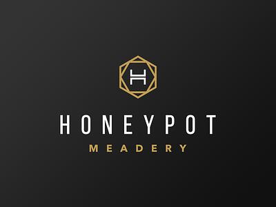 Honey Pot Meadery Limited Logo limited gold black meadery mead honey icon identity logotype logo