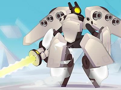 Ludo 'Yaourt' - Mecha ludo tv france3 meka mecha robot yaourt design cartoon animation character