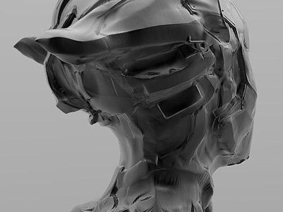 Zbrush Modeling - Darkness (view2) digitale sculpture graphic design mask robot bot pixol modélisation modeling zbrush