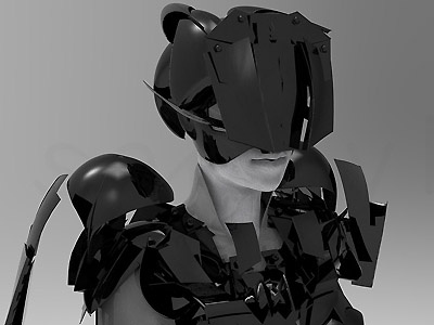 Zbrush - Armor 1 Modeling zbrus armor modeling hard surface sci-fi character romika keyshot rendering