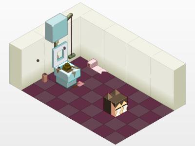 BOX Office - episode1 -- toilet isométrie isometry cubes box office episode toilettes toilet poo popo