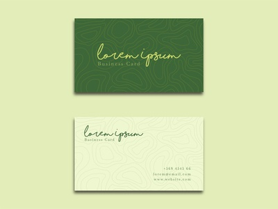Free Elegant Business Card Contour Style