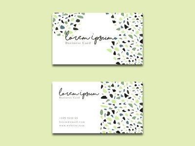 Free Elegant Business Card Terrazzo Style