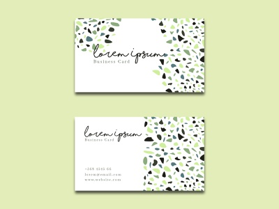 Free Elegant Business Card Terrazzo Style identity office company sign simple name card card stationary branding beauty contact modern elegant business design template illustration free download free resources