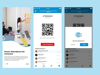 Attendance System ui ux mobile app